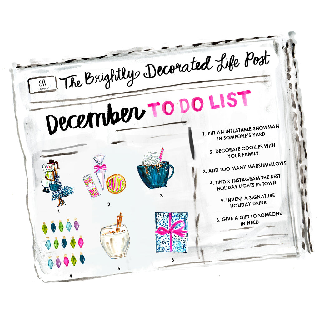 December To Do List www.evelynhenson.com