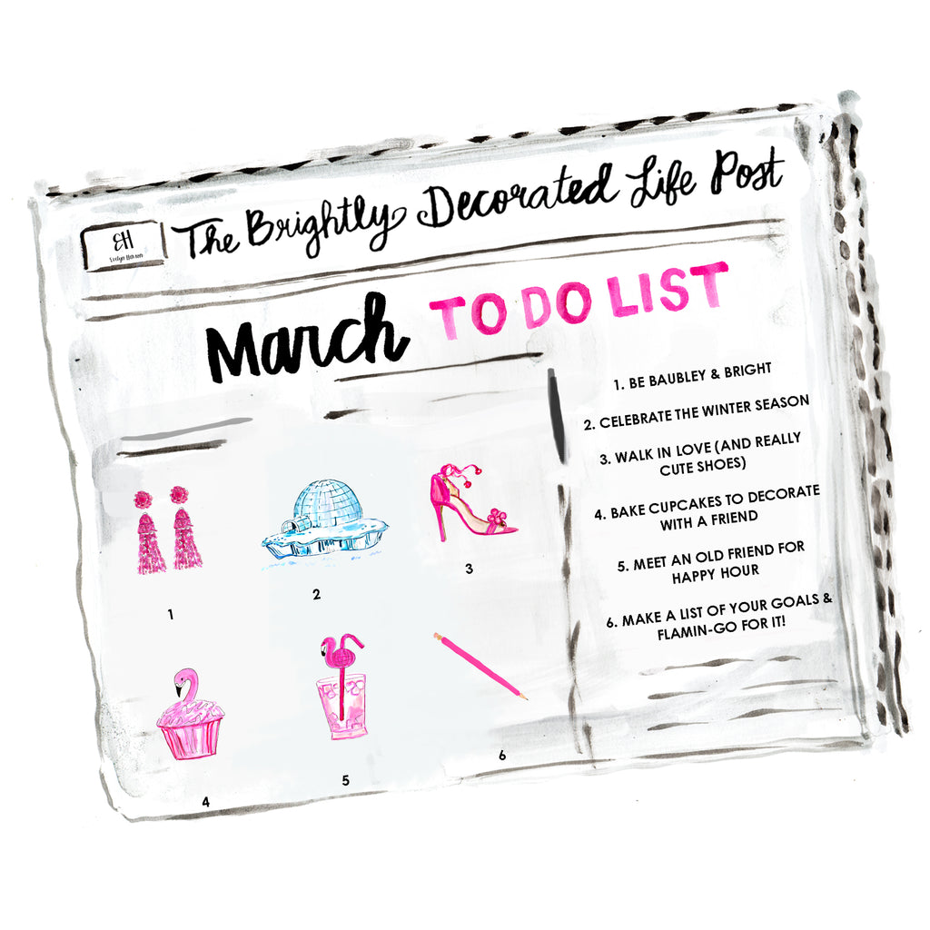 march to do list www.evelynhenson.com