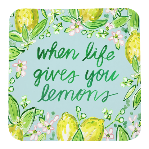 Coaster Set, When Life Gives You Lemons