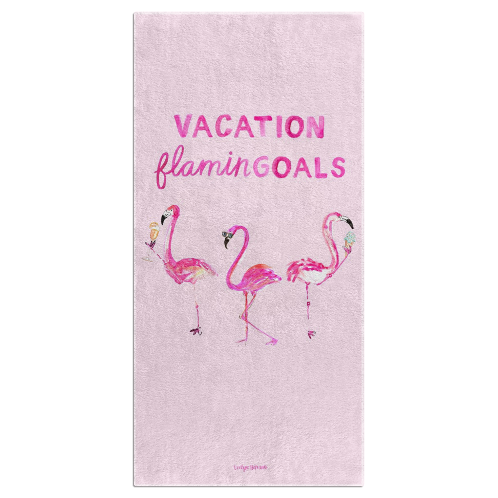Flamingoals Towel