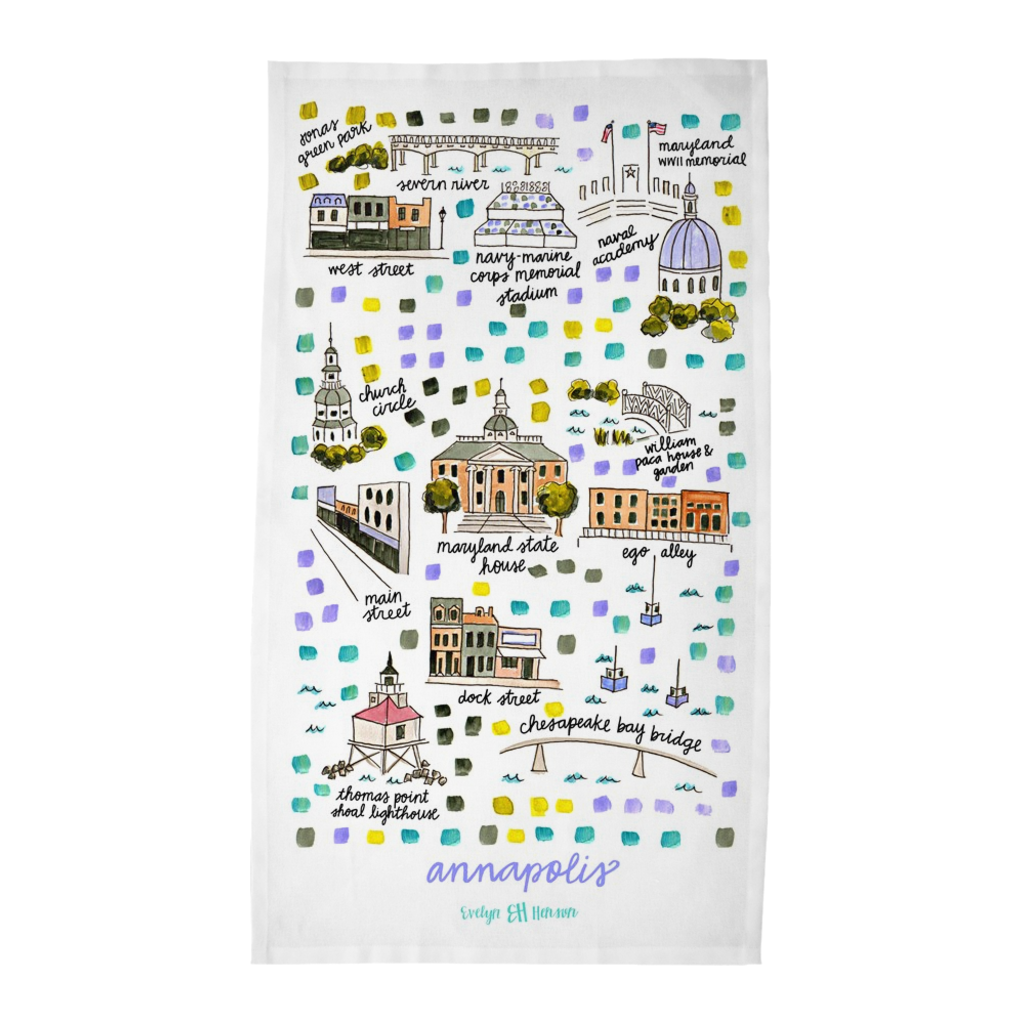 Annapolis, MD Tea Towel