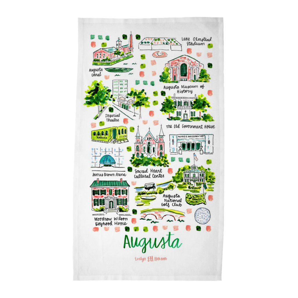 Augusta, GA Tea Towel