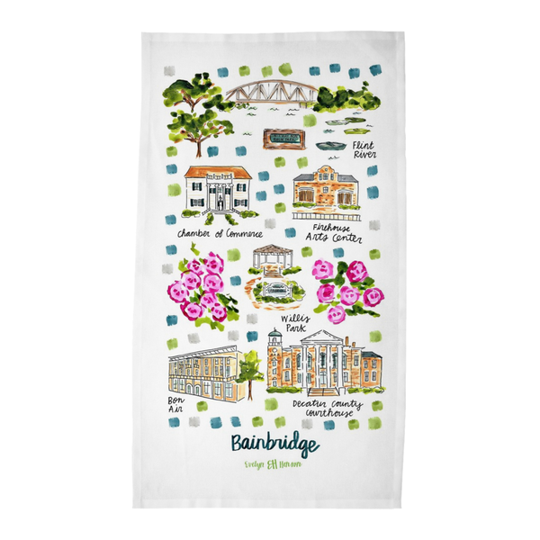 Bainbridge, GA Tea Towel