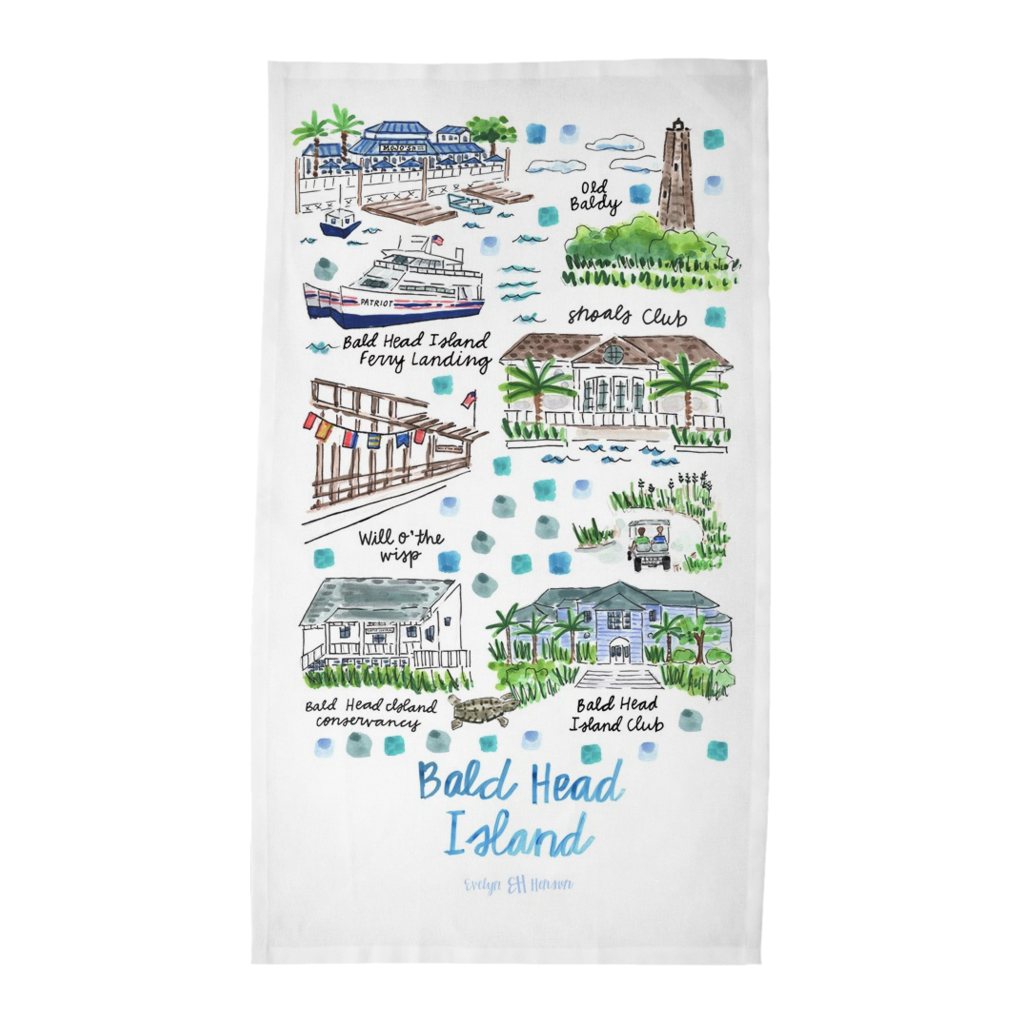 Bald Head Island, NC Tea Towel