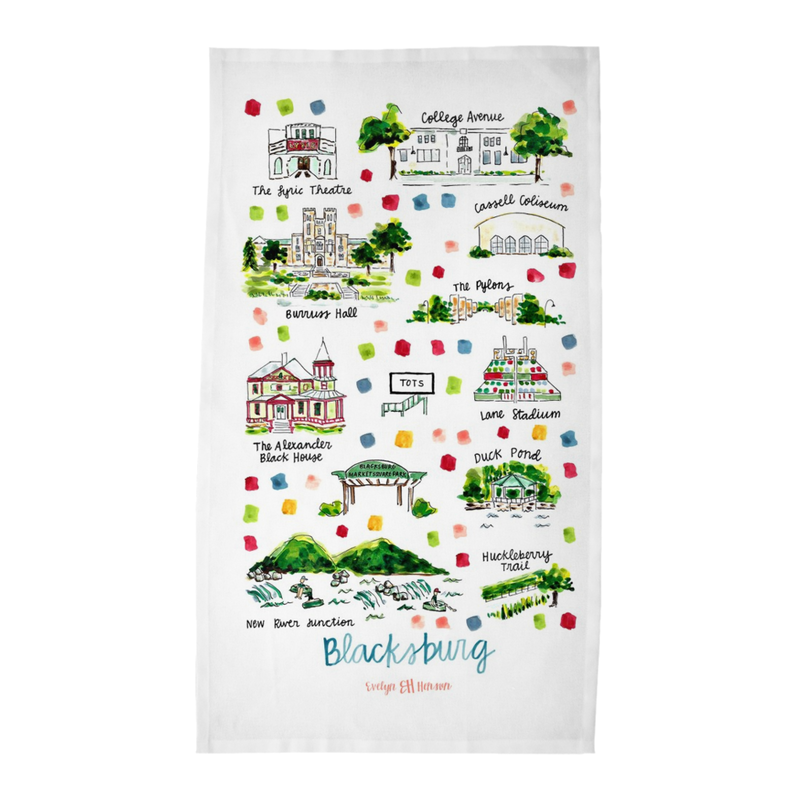 Blacksburg, VA Tea Towel