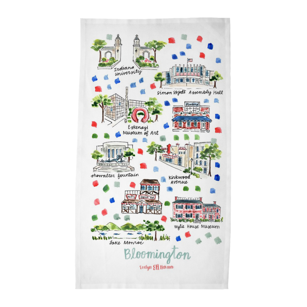 Bloomington, IN Tea Towel