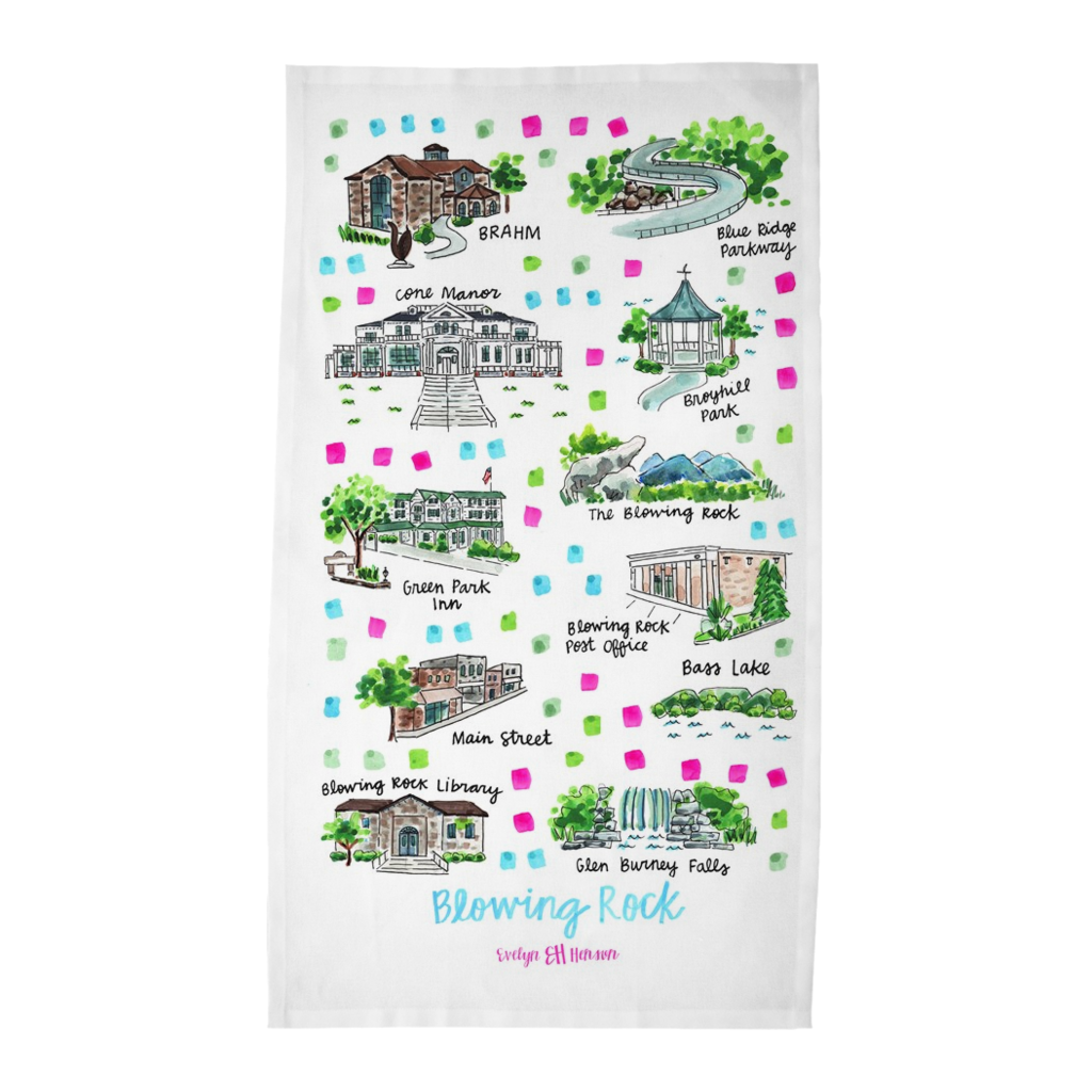 Blowing Rock, NC Tea Towel