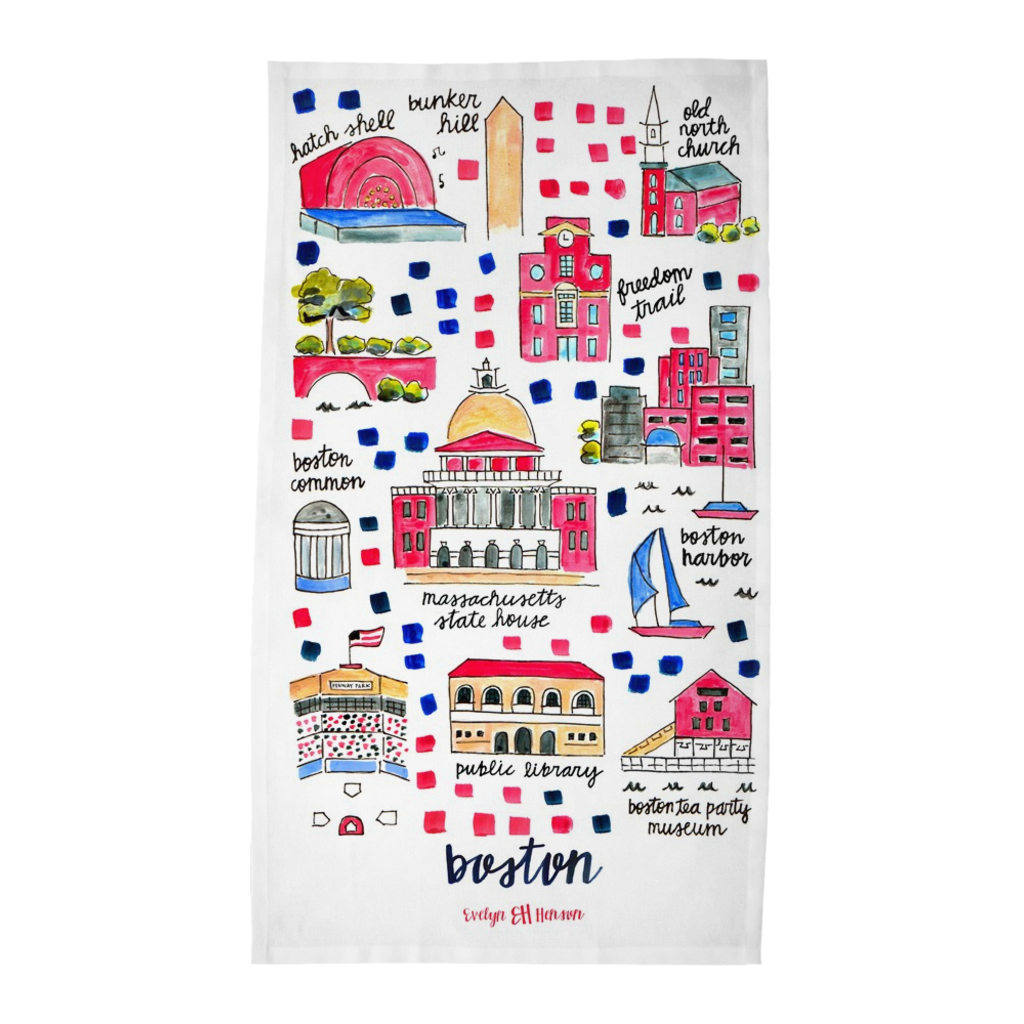Boston, MA Tea Towel