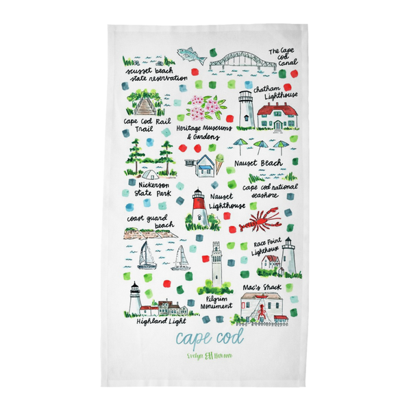 Cape Cod, MA Tea Towel