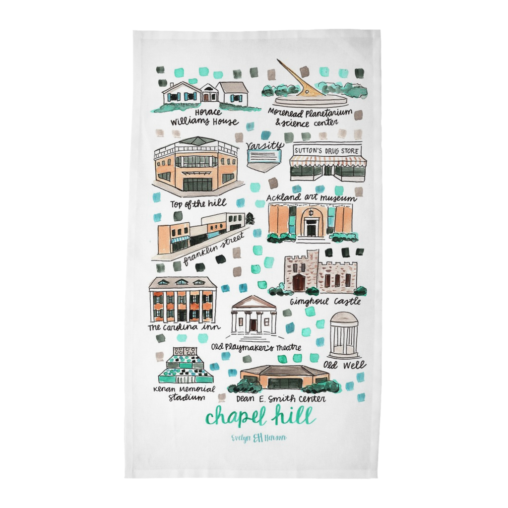 Chapel Hill, NC Tea Towel