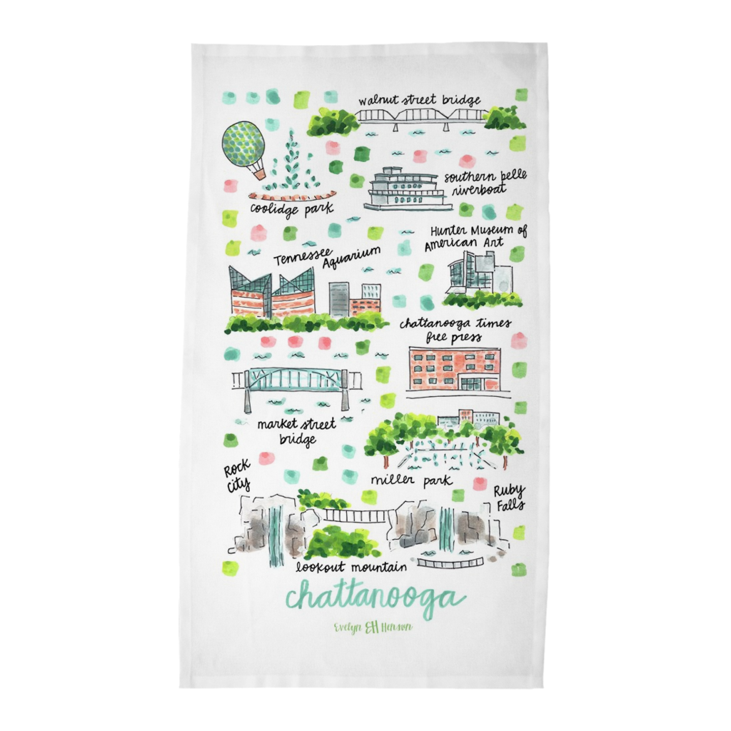 Chattanooga, TN Tea Towel