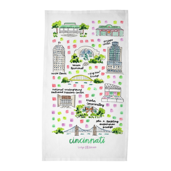 Cincinnati, OH Tea Towel