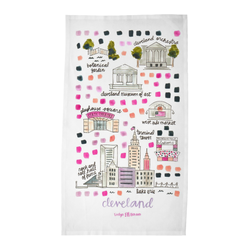 Cleveland, OH Tea Towel