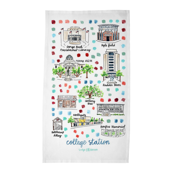 College Station, TX Tea Towel