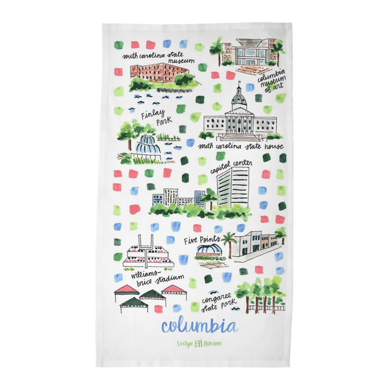 Columbia, SC Tea Towel