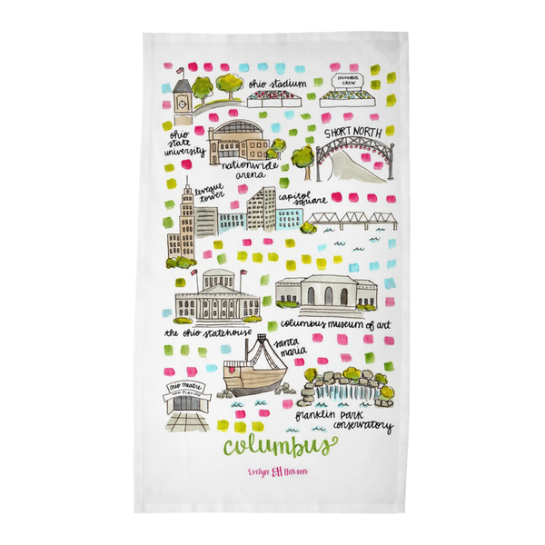 Columbus, OH Tea Towel
