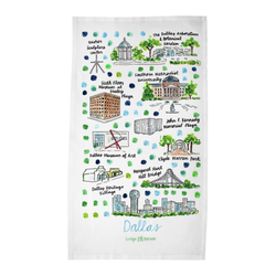 Dallas, TX Tea Towel