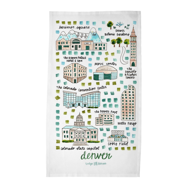 Denver, CO Tea Towel