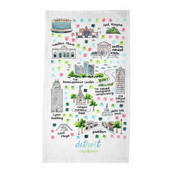 Detroit, MI Tea Towel
