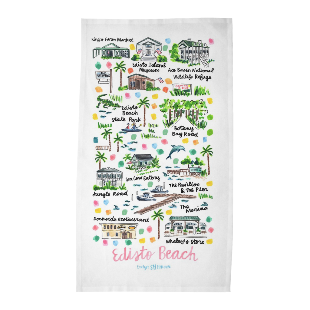 Edisto Beach, SC Tea Towel