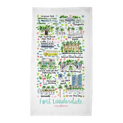Fort Lauderdale, FL Tea Towel