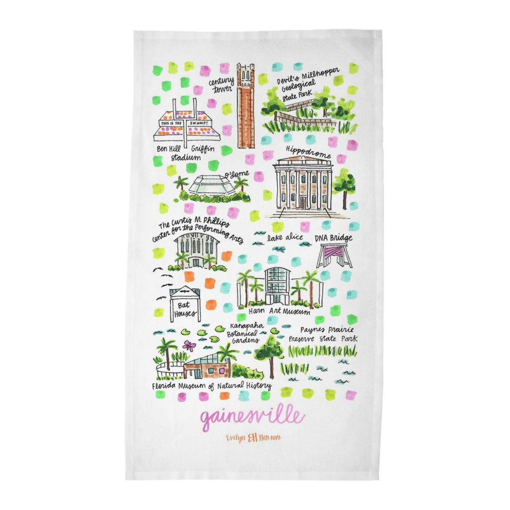 Gainesville, FL Tea Towel