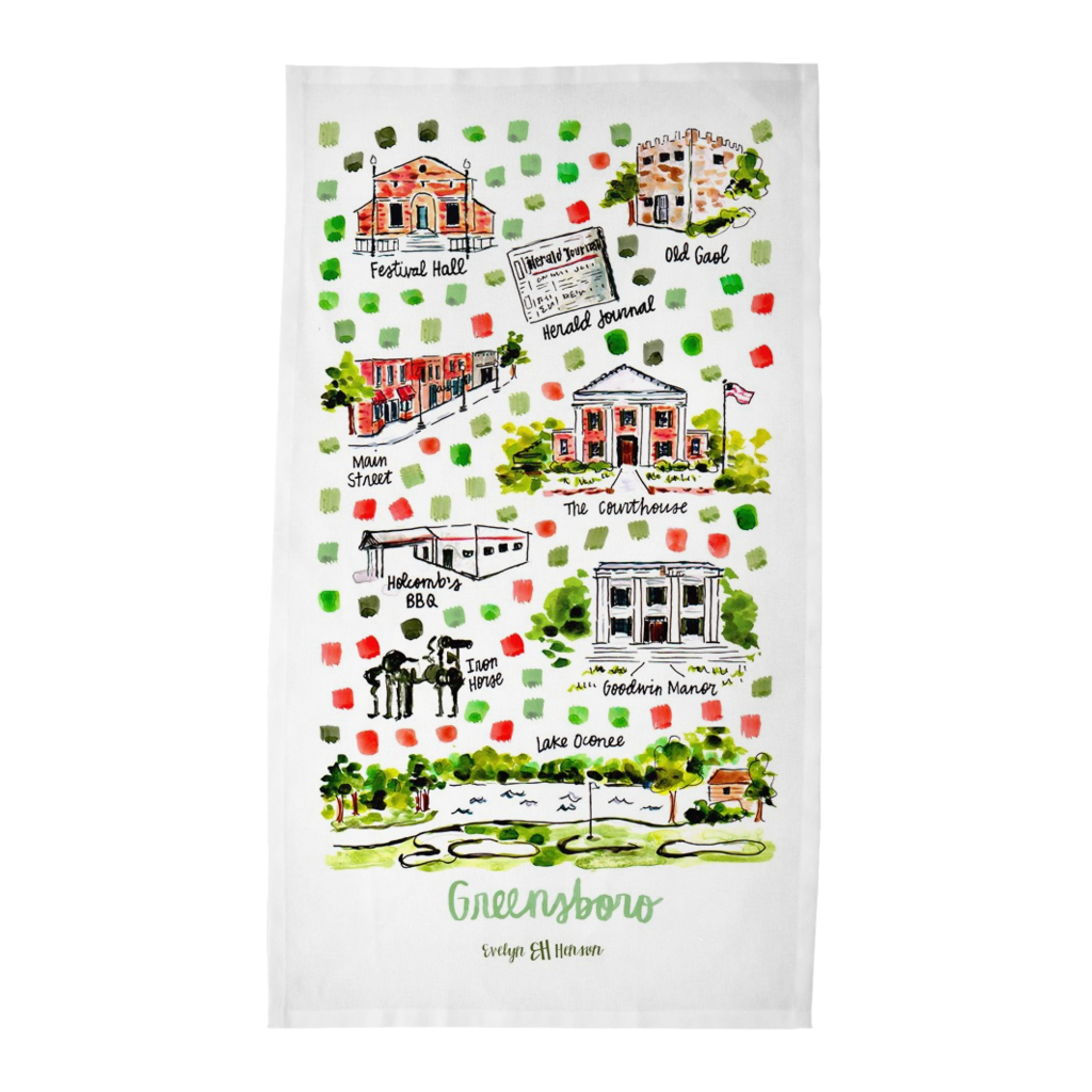 Greensboro, GA Tea Towel