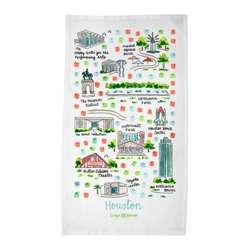 Houston, TX Tea Towel