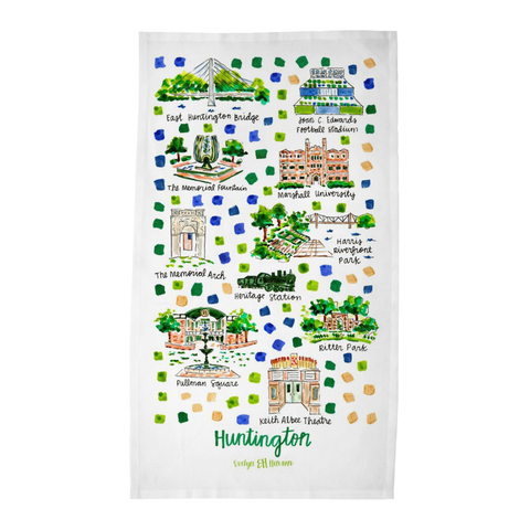 Huntington, WV Tea Towel