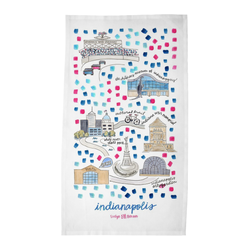 Indianapolis, IN Tea Towel