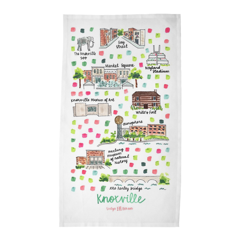 Knoxville, TN Tea Towel