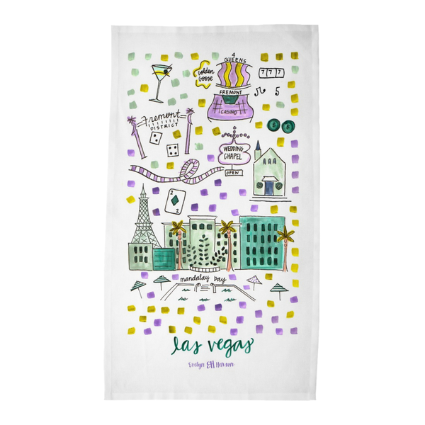Las Vegas, NV Tea Towel