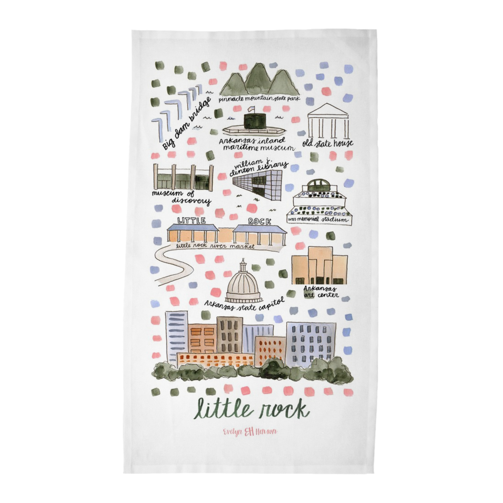 Little Rock, AR Tea Towel