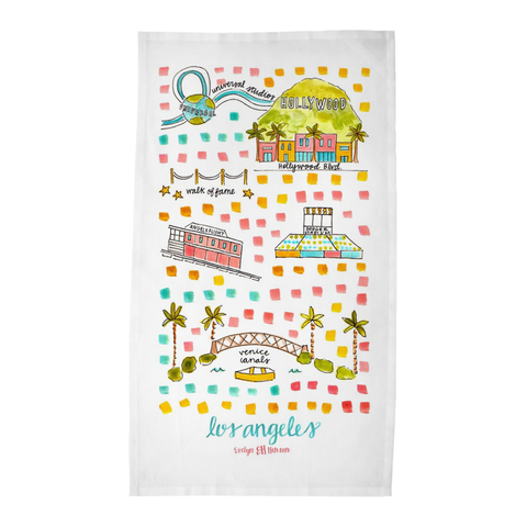 Los Angeles, CA Tea Towel