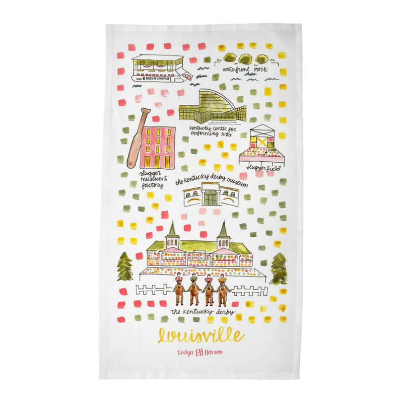 Louisville, KY Tea Towel