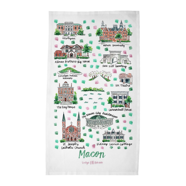 Macon, GA Tea Towel