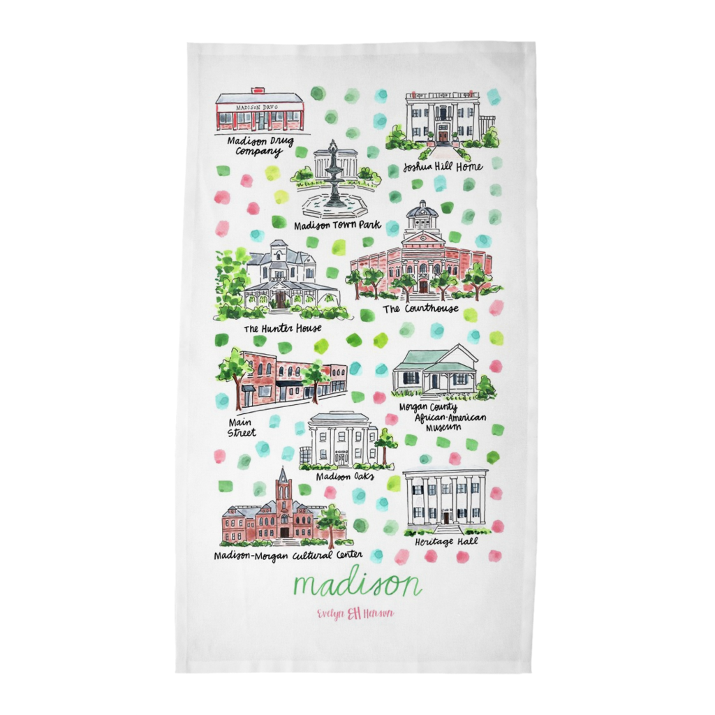 Madison, GA Tea Towel