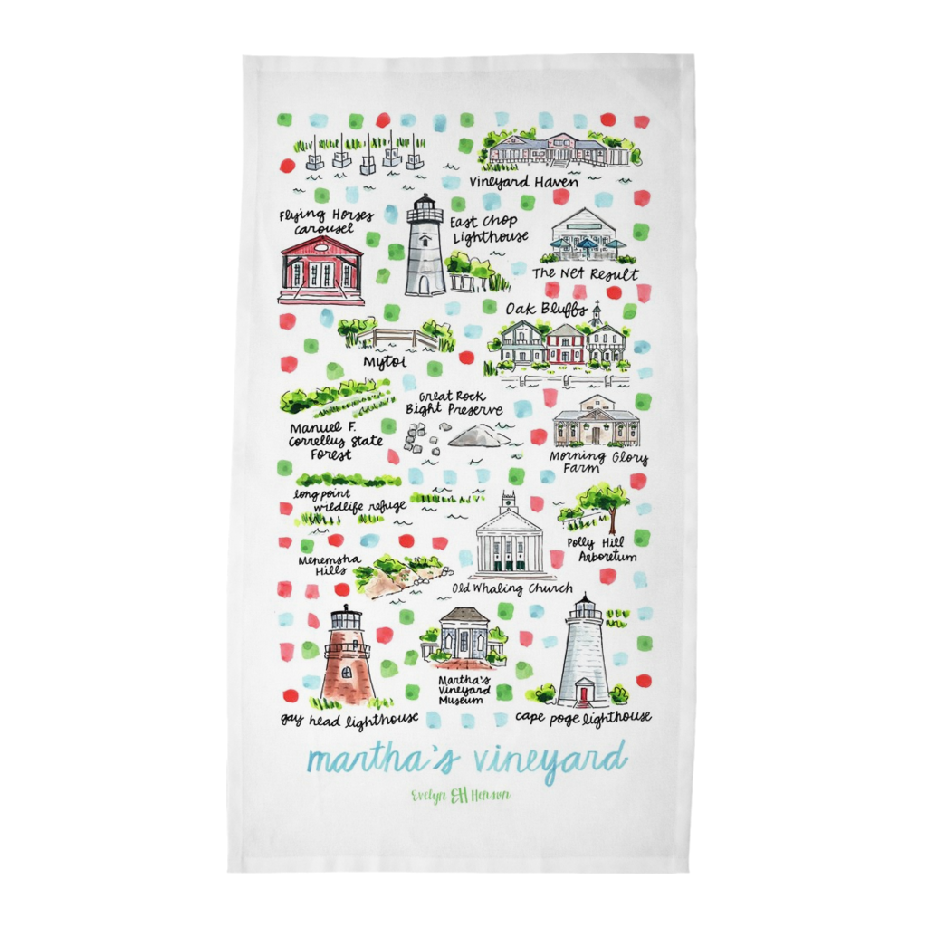 Martha's Vineyard, MA Tea Towel