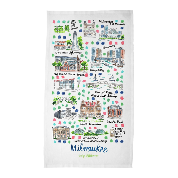 Milwaukee, WI Tea Towel