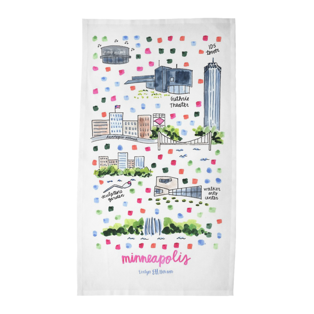 Minneapolis, MN Tea Towel