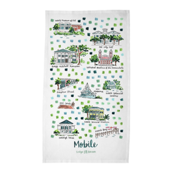Mobile, AL Tea Towel