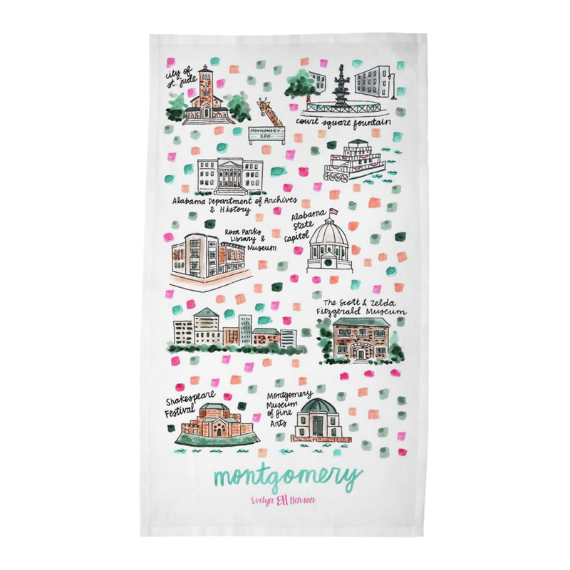 Montgomery, AL Tea Towel