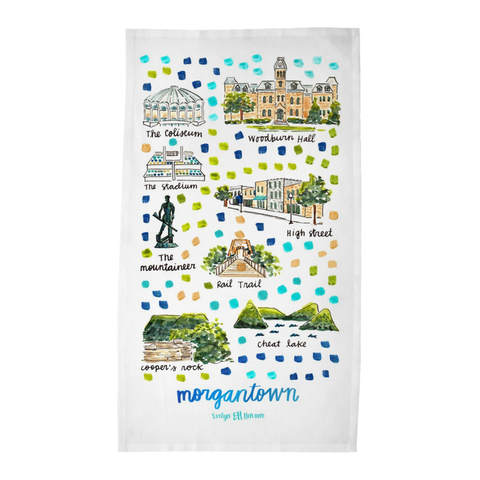 Morgantown, WV Tea Towel