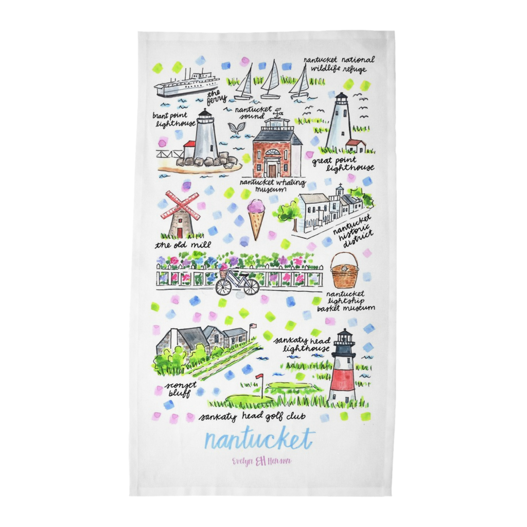 Nantucket, MA Tea Towel