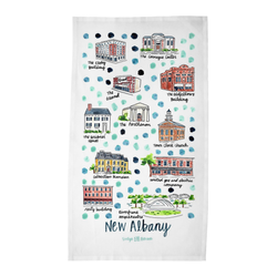 New Albany, IN Tea Towel