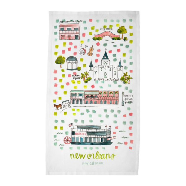 New Orleans, LA Tea Towel