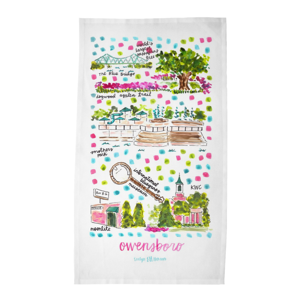 Owensboro, KY Tea Towel
