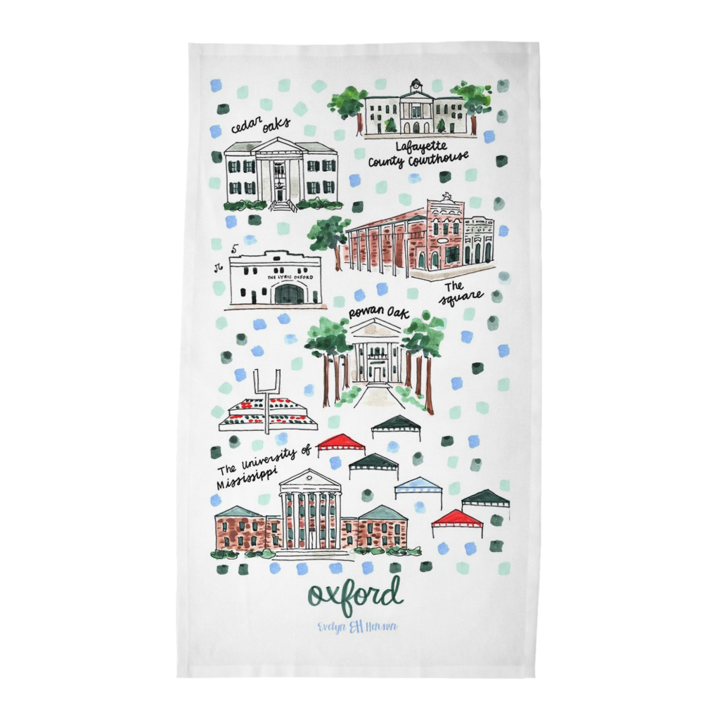 Oxford, MS Tea Towel