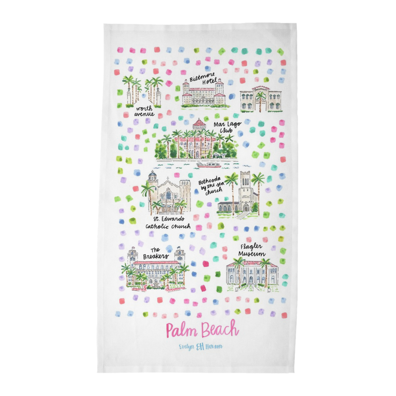 Palm Beach, FL Tea Towel