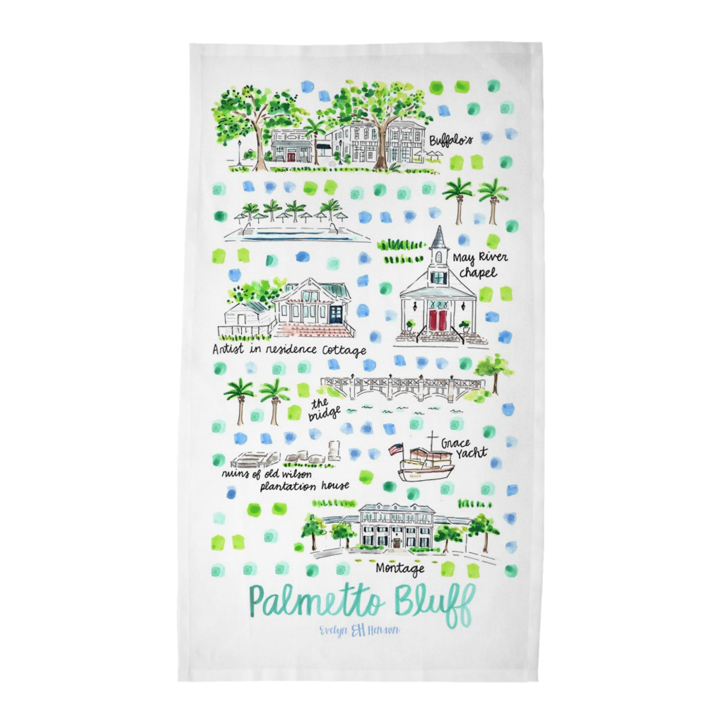 Palmetto Bluff, SC Tea Towel